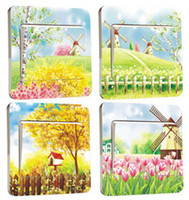 Wholesale 28pcs Series Lovely PVC Switch Stickers Cheap Decorative Stickers Wall Decoration FM022