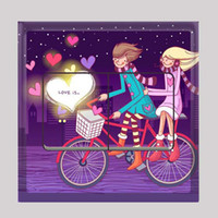 Wholesale Sweetheart Purple PVC Stickers Art Switch Stickers Wedding Gifts Wall Decals FM025