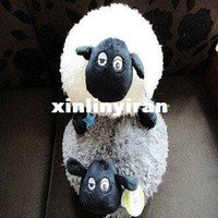 Teddy Bear White Stuffed & Plush,Soft Wholesale 45cm Shaun The Sheep big pillow Animal Plush Toy,animals 2 colors the gifts for children and friends free shipping