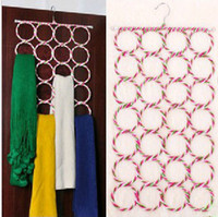 Wholesale Multifunction Colorful Eco friendly Paper Rattan Hanger Ring Scarf Rack Silk Tie Foldable Rack