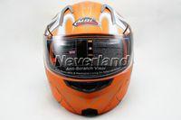 Wholesale Neverland Motorcycle Helmet Full Face Orange ABS Motocross Undrape Face Moto Racing Road Flip Up Dual Shield Sun Visor Sizes