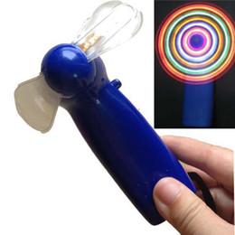 1pcs,2013 LED Color Matrix Light Handheld Portable Mini Fan Fans Changing Light Up Travel Cool Fan