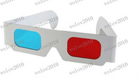 anaglyph glasses - LLFA1202 Free Ship High Quality Dimensional Paper D Glasses D Glasses Red and Blue Anaglyph