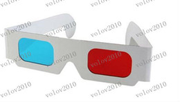 Wholesale LLFA1202 Free Ship High Quality Dimensional Paper D Glasses D Glasses Red and Blue Anaglyph
