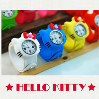 Wholesale 50pcs Fashion Animal Slap Snap On Silicone Wrist Watch Boys Girls Children Kids Fashion Kids Watch Kitty Watch Singpore Post