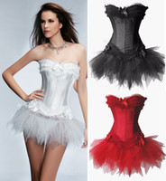 Wholesale 2013 New Fashion Black Lace Corset Bustier Wedding Dress Shapers Court Sexy Costume Colors S M L XL XXL