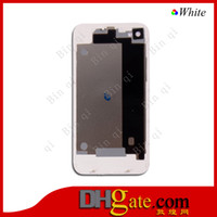 Wholesale Back Glass Battery Housing Door Back Cover Replacement Part With Flash Diffuser for iPhone S And Surping Gift