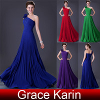 Wholesale Grace Karin New Designer Pleated Evening Dress Long A line Ball Gown Prom Dresses CL3467