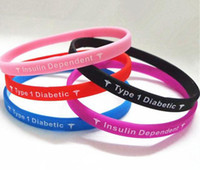 Other   Type 1 Diabetes Insulin Dependent medical silcone wristband bracelet Big promtion