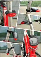 Wholesale NEW Solar Bicycle Tail Light taillight systems riding bike riding taillight warning light energy saving quality products led