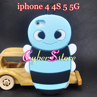 Wholesale New D Honey Bee Cartoon Soft Silicon Silicone Case Cover for iphone G S G