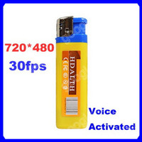Wholesale New Spy Lighter DVR Hidden Camera Cam Camcorder USB Mini DV Voice Activated Yellow