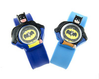 Sport Children's cw008 mixed color Fashion Children Watch Bat Man Kid Wristatch Round Slap Silicone Sport Watches 50pcs Lot Best Gift 2013 New Arrival Singpore Post Free Ship