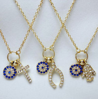 Wholesale Fashion jewelry piece mixed color Turkey Blue Eyes gold silver Clavicle chain Necklace pendant with tracking number