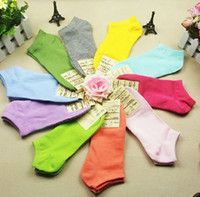 Wholesale Sock Muji - Muji Candy Colors Cotton Boat Socks Ladies Short Ankle Sox Floor Socks Women Summer Thin Socks