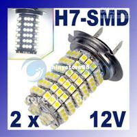 2x 120 LED 3528 SMD Blanco Xenon H7 Coche de la Niebla las Luces Cabeza de Luz de la Bombilla de la Lámpara de 3W 12V envío Gratuito