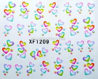 Wholesale New arrival Nail Art Water Transfers Stickers D Nail Decals Sheets multi style designs NS23