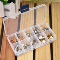Wholesale Pieces Slot DIY Plastic Jewelry Cosmetic Pill Adjustable Compartments Box Case Craft Organizer Storage Box