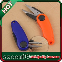 Wholesale New Orange Blue For Cutting Fishing Line Braid Fish Tool Retractable Scissor Pliers Cutter