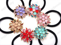 Wholesale 2013 NEW Elegant Crystal Hair Band Rope hair clip Ponytail Holder Fashion Hair Jewelry JH02001