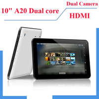 Wholesale New Inch A20 Dual Core MID Android GHz Tablet PC Capacitive Multi Touch Screen GB RAM GB Dual Camera Wifi HDMI Webcam skype