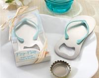 Wholesale Top quality Gift Beer Bottle Opener Wedding Favor Flip Flop Sandal Bottle Opener Slipper Wine Opener