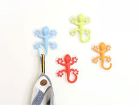 Wholesale Multifunction Silicone Super Suction Gecko Shape Hook Hanger Ceramic Tile Household Sucker Holder Hooks