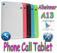 Wholesale 7 Inch Phablet Allwinner A13 GSM Phone Call Tablet pc Android Capacitive SIM Dual Webcam Wifi Bluetooth V Colors MID GB Cheap