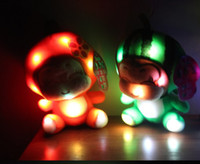 Wholesale Novelty Colorful LED Lovely Monkey Plush Toys Children Christmas Gift