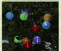 Wholesale Solar Light Christmas Light Solar Power Chinese Lantern Garden LED Festive lanterns Chandelier