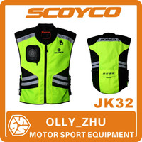 Wholesale 2015 Scoyco JK32 Motorcycle Reflecting Racing Vest Visbility Moto Safety Road Security High Quality Vests Motorbike