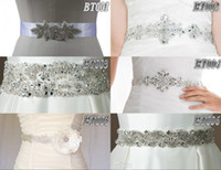 Elastic Satin sequence - Charming Sparkling exquisite Shining beaded sequence beading wedding accessory belts bridal sashes Mix Styles for sale
