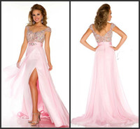 Wholesale Custom made Sexy full length Incredible Pageant Gown stunning intricately hand beaded chiffon cap sleeve evening dresses