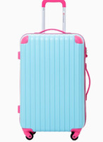 Wholesale color vision travel suitcases fashion luggage top quality ladys and mans fave best suitcases choice