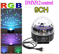 Wholesale 9 Channel RGB Control Digital LED Mini Laser Projector Light Led lights rotate light stage lamp st