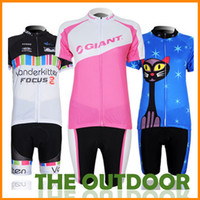 Wholesale New Cycle Clothes Sets For Women s Short Sleeve Cycling Tops Pants Breathable Quick Dry Perspiration Mountain Jersey Bicycle HW0011