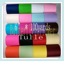 Wholesale 07 Latest Colorful Raw Tulle Top Eco friendly Breathable Tulle rolls