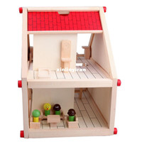 assemble furniture - New Item Assembling House Building Blocks With Furniture Educational Toys Wooden Toy Baby Gift