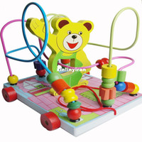 Wholesale Bear Vehicle The Block And Flowers Move Round The Pean Educational Toys Good Gift