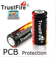 Wholesale Free EMS Brand New TrustFire V mAh Li ion Rechargeable Battery for LED Flashlight with PCB Protection