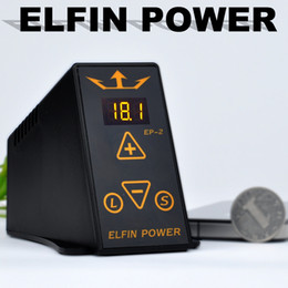 Wholesale 2013 New Arrival Permier ELFIN Tattoo POWER SUPPLY For Tattoo Machine EP Clip Cord amp Foot Pedal