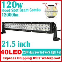 Wholesale NEW quot W LED W Epistar Work Light Bar Off Road SUV ATV WD x4 Spot Flood Combo Beam lm IP67 Driving Truck Lamps V IP67
