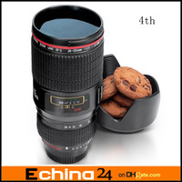 Wholesale 400ML Generation Stainless Steel Liner Travel Thermal Coffee Camera Lens Mug Cup