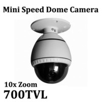 Wholesale 700TVL Sony CCD Ceilling x Optical Zoom Mini Speed Dome PTZ Camera CCTV