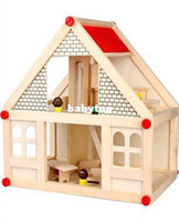 doll furniture - Doll house building blocks assembled with furniture small
