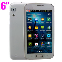 Wholesale 6 inch Android Phone H9500 Wifi TV Note II N7100 MTK6515 GHz Android Dual SIM Unlocked Cell Phone Quad Band Phone