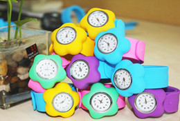 Wholesale Fashion Papa Flower Kids Watch Children Wristatch Round Slap Silicone Sport Watche Best Gifts By DHL