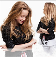 Without Hood Girl Spring / Autumn 2013 New cool kids Outerwear girls black European style metal zipper machine wagon long-sleeved cardigan jacket,JU61