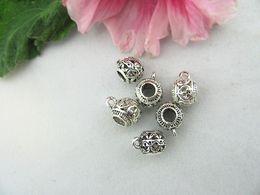 Antique Silver charms Large Hole Beads Charm Pendant suitable for DIY European bracelet zinc alloy Free Shipping