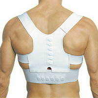 Back   S5Q Adjustable Unisex Magnetic Posture Back Shoulder Corrector Support Brace Belt AAABSI